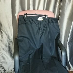 NEW Old Navy 22 pants stretch LONG low waist black